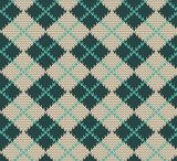 Seamless Rhombus Blue Color Knitted Pattern. Vector  Tekstury Fototapeta