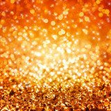 Golden glitter background  Abstrakcja Fototapeta