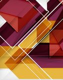 Geometrical colorful shapes abstract background  Na drzwi Naklejka