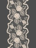 Seamless lace vertical ribbon with abstract floral pattern.  Na drzwi Naklejka