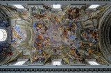 Painting on seiling of St,Peter cathedral, Rome, Italy  Na sufit Naklejka