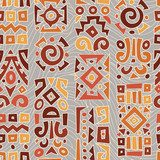 Ethnic African geometrically typical pattern  Afryka Fototapeta
