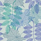 Seamless pattern of leaves  Na laptopa Naklejka