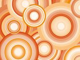 Abstract Retro Vector Background with circles  Na laptopa Naklejka