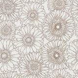 Hand drawn floral seamless pattern  Na laptopa Naklejka