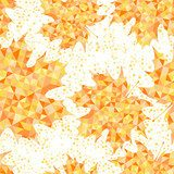 Seamless pattern with abstract maple leaves. Autumn background.  Na laptopa Naklejka