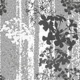 Monochrome seamless pattern of abstract flowers. Hand-drawn flor  Na laptopa Naklejka