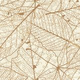 Seamless autumn leaves pattern. plus EPS10  Na laptopa Naklejka