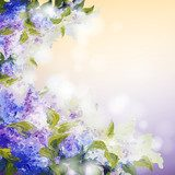 Lilac flowers background  Na laptopa Naklejka