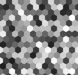 Hexagon seamless pattern in shades of grey, vector  Na meble Naklejka