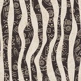 Tribal art. African stile seamless pattern  Na meble Naklejka