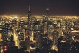 Chicago at Night  Obrazy do Sypialni Obraz