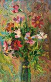 Oil painting on canvas. Bouquet of flowers  Olejne Obraz