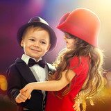 Lovely little boy and girl dancing  Ludzie Obraz