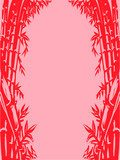 Background Sketch of Oriental Bamboo  Orientalne Fototapeta