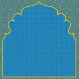 Arabian blue background  Orientalne Fototapeta