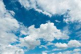 Cloudscape of bright blue sky  Niebo Fototapeta
