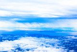 Mount Fuji view beyond the sea of ​​clouds  Niebo Fototapeta