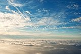 heavenly view of sky & clouds from a jet plane  Niebo Fototapeta