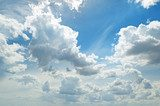 light clouds in the blue sky  Niebo Fototapeta