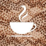 Vector Illustration of a Coffee Background  Kawa Fototapeta