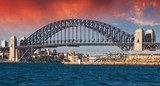 Sydney Harbour Bridge and Australian Sky  Fototapety Mosty Fototapeta