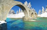 winter traditional bridge arta greece stone  Fototapety Mosty Fototapeta