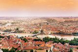 Cityscape and Charles Bridge in Prague  Miasta Fototapeta