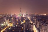 city skyline at night  Miasta Fototapeta