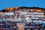 City of Lisbon at Dusk in Portugal  Miasta Fototapeta