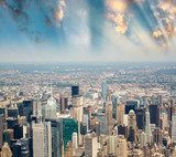 Stunning skyline and skyscrapers of Manhattan, New York  Fototapety Miasta Fototapeta