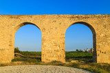 Old Greek aqueduct in warm sunset light in Larnaca, Cyprus  Prowansja Fototapeta