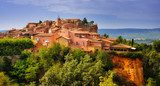 Roussillon village sunset view, Provence, France  Prowansja Fototapeta
