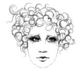 woman's head, sketch  Drawn Sketch Fototapeta