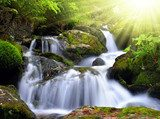 Waterfall in the national park Sumava-Czech Republic  Wodospad Fototapeta
