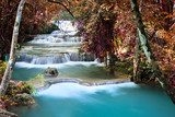 Beautiful waterfall in deep forest  Wodospad Fototapeta