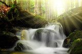 Waterfall on the White creek -  Sumava , Czech Republic  Wodospad Fototapeta