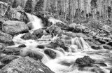 Waterfalls at stream Studeny potok in High Tatras, Slovakia  Wodospad Fototapeta