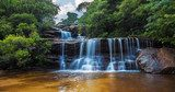 Wentworth falls, upper section Blue Mountains, Australia  Wodospad Fototapeta