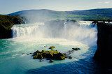 Beatiful Vibrant Picture of icendic waterfall in iceland  Fototapety Wodospad Fototapeta