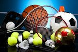 Assorted sports equipment  Sport Plakat