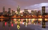 Montreal skyline at night, Canada  Architektura Plakat