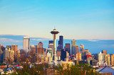 Downtown Seattle as seen from the Kerry park  Architektura Plakat
