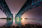 South Grand Island Bridge spanning Niagara river  Architektura Plakat
