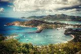 Falmouth bay - View from Shirley Heigths, Antigua  Sypialnia Plakat