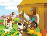 The life on the farm - illustration for the children  Pokój dziecka Plakat