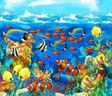 The coral reef - illustration for the children  Pokój dziecka Plakat