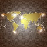 golden world map vector background  Mapa Świata Fototapeta