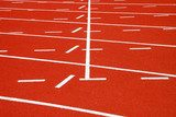 Running tracks of athletics  Stadion Fototapeta