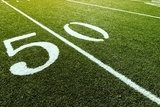 Football Field on 50 Yard Line  Stadion Fototapeta